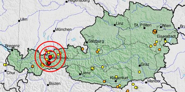 Leichtes Erdbeben im Karwendel in Tirol