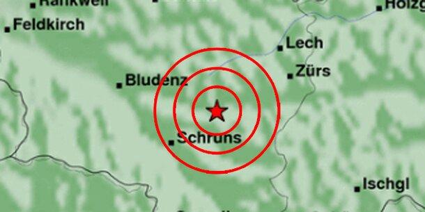 Erdbeben erschütterte Vorarlberg