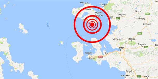 Schweres Erdbeben in der Ägäis