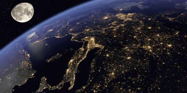 Erde hell Nacht
