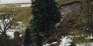 Erdrutsch in Dalaas