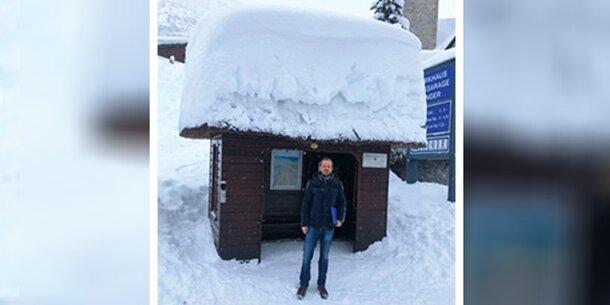 Eingeschneit: Mitten im Schneechaos am Arlberg