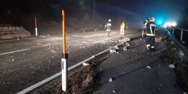 Tödlicher Unfall bei Aufräumarbeiten nach Felssturz