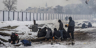 Flüchtlinge Kälte