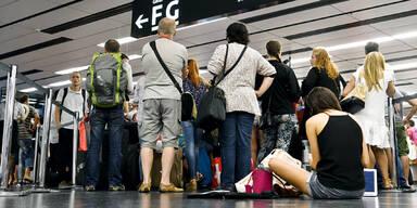 Flug-chaos Flughafen Wien Ärger