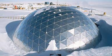 Forschungsstation am geographischen Südpol