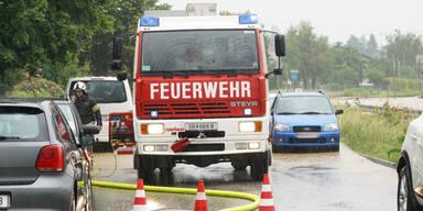 Überschwemmungen Wieselburg Hochwasser-Alarm