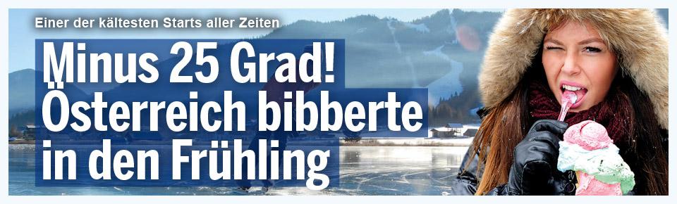 Österreich bibberte in den Frühling