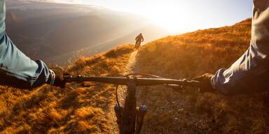 Radtour auf Berg