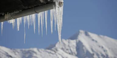 Frost Alpen Eiszapfen