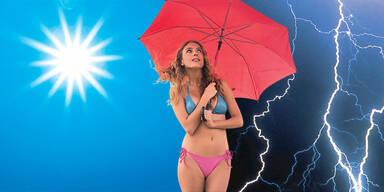 Sommer im Osten - Gewitter im Westen