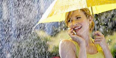 Regenschirm Sommer Telefon Wetter Handy
