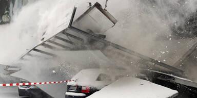 Dach brach unter Schneelast