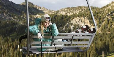Wetter Ski fahren