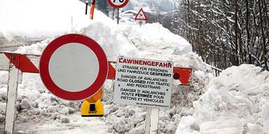 Lawinengefahr Sperre Vorarlberg