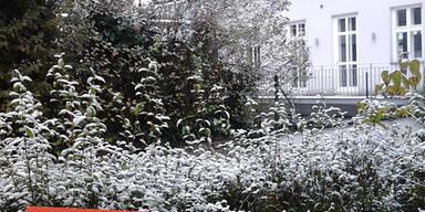 So verschneit ist Österreich: Wien-Neuwaldegg