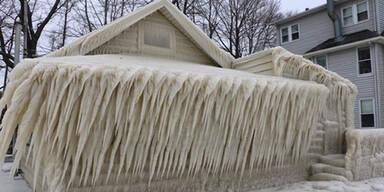 Haus eingefroren