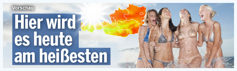 Hier wird es heute am heißesten
