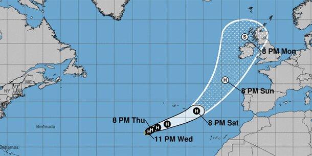 "Hurrikan ""Ophelia"" nimmt Kurs auf Europa"