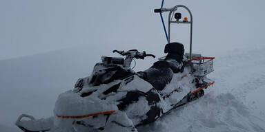 Schneefall in Österreich