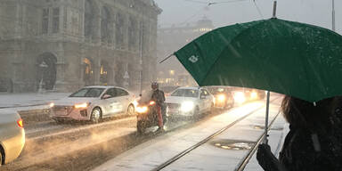 Wien Schneesturm