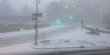 Winter Wien Schneesturm