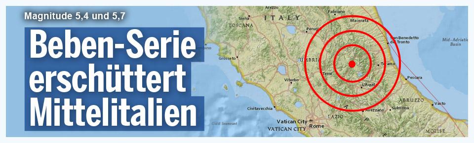 Beben-Serie erschüttert Mittelitalien