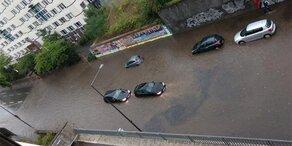 Heftige Unwetter überschwemmen Köln