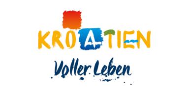 Kroatien - Logo mit Slogan - Voller Leben - V1