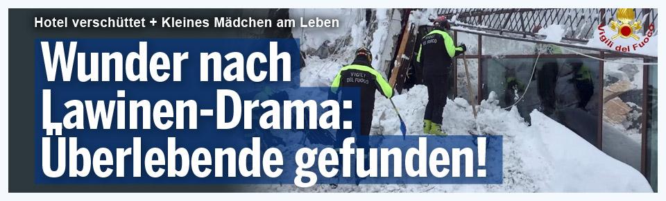 Wunder nach Lawinen-Drama: 8 Überlebende geborgen