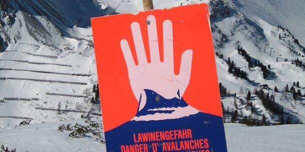 Hohe Lawinengefahr in Vorarlberg