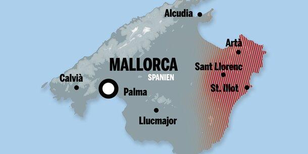 Mallorca Diese Gebiete Sind Am Schwersten Betroffen Wetter At
