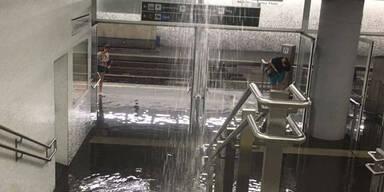 Matzleinsdorfer Platz Wassereinbruch 10. Juli 2017