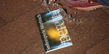 Mörbisch Seebühne Festspiele Regen