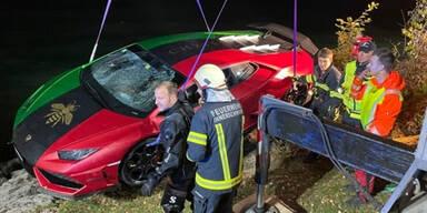 31-Jähriger versenkt Protz-Lamborghini im Mondsee