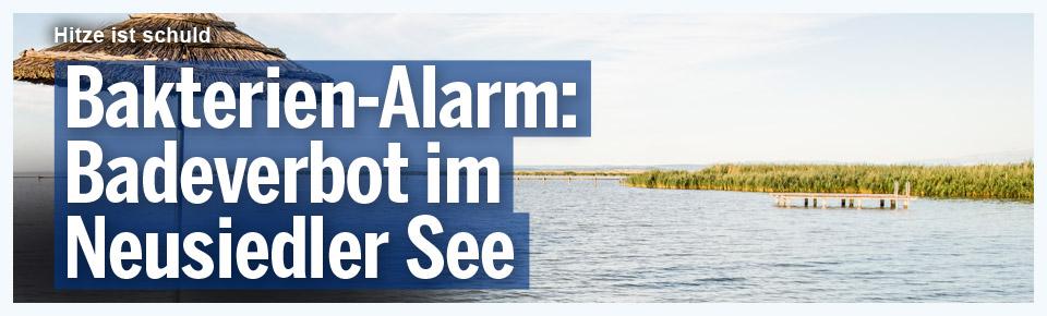 Bakterien-Alarm: Badeverbot im Neusiedler See erlassen