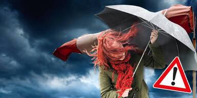 Bis zu 120 km/h: Orkan-Warnung für Teile Österreichs