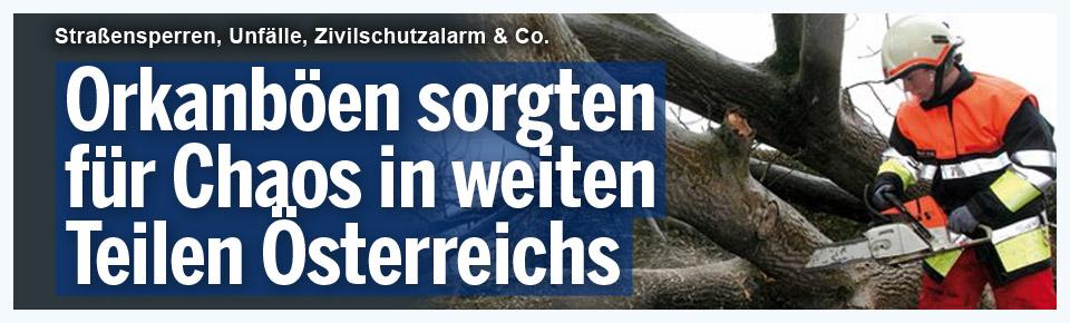 Sturm sorgte für Chaos in Österreichs