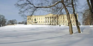 Oslo Palast Schnee