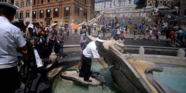 Po Italien Wasser Dürre Spanische Treppe Rom