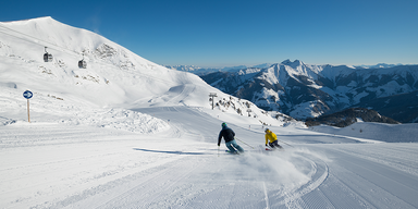 Raurisertal Winter - Skiabfahrt auf top-präparierter Piste