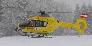Rettungshubschrauber Skiunfall