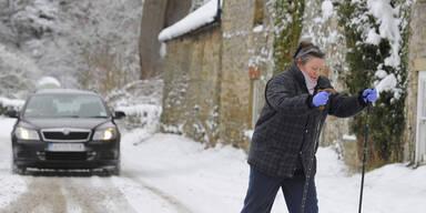 Schneechaos in Großbritannien