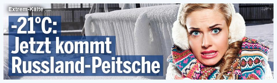 Jetzt kommt Russland-Eis-Peitsche