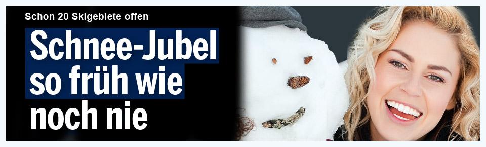 Schnee-Jubel so früh wie noch nie