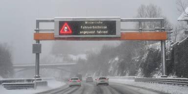 Schnee Tauernautobahn