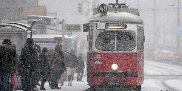 30 cm Neuschnee in Wien erwartet
