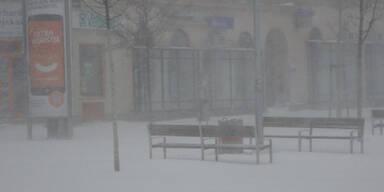 Schneechaos in Wien