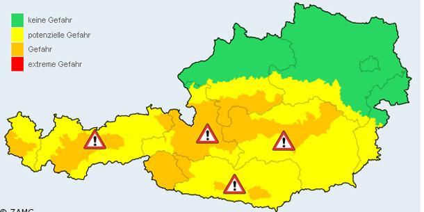 Bildergebnis für Zamg Wetterwarnung