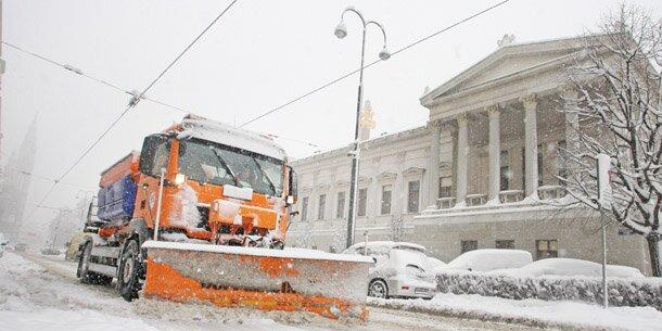 Am Wochenende kommt Schnee bis nach Wien